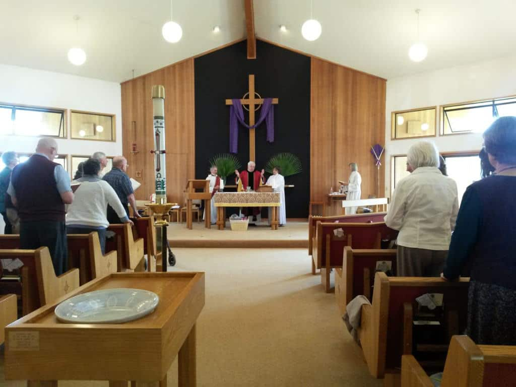 St. Bede's, Forest Grove worship in the sanctuary