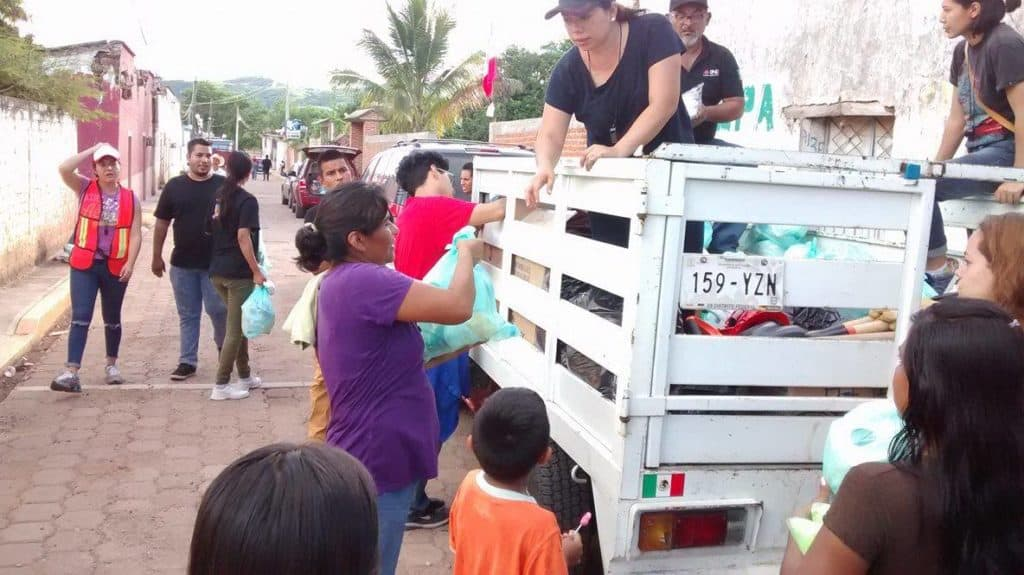 Cuernavaca earthquake aid deliveries